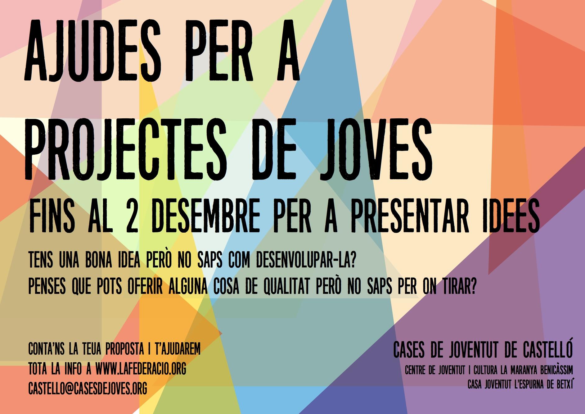 Cases de Castelló trau una convocatòria per ajudes per a projectes de joves