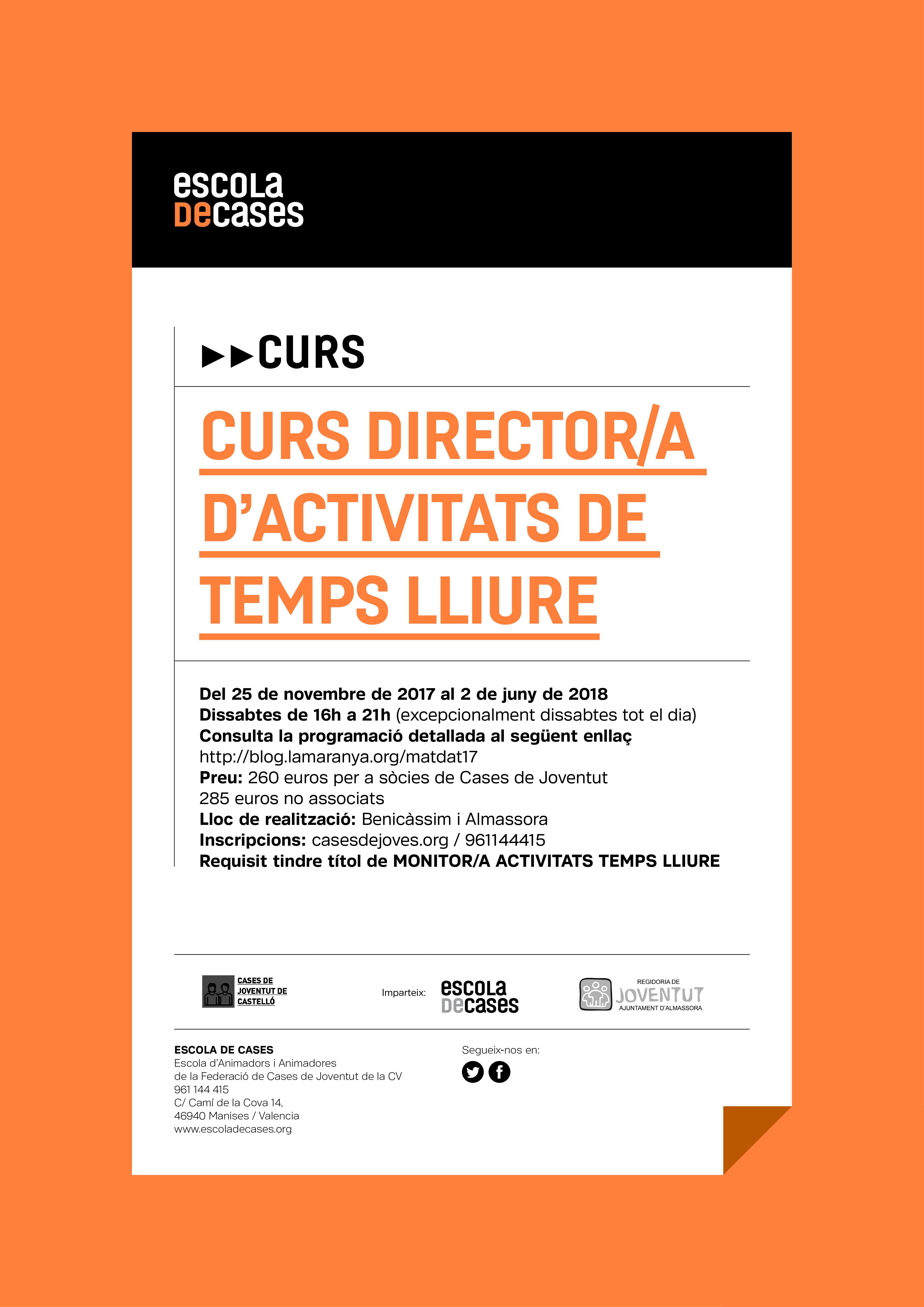 Formació: Director/a de temps lliure